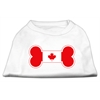 Mirage Pet Products Bone Shaped Canadian Flag Screen Print Shirts White XXL (18)