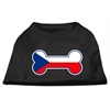 Mirage Pet Products Bone Shaped Czech Republic Flag Screen Print Shirts Black XS (8)