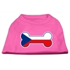 Mirage Pet Products Bone Shaped Czech Republic Flag Screen Print Shirts Bright Pink S (10)