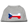 Mirage Pet Products Bone Shaped Czech Republic Flag Screen Print Shirts Grey XXXL(20)