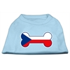 Mirage Pet Products Bone Shaped Czech Republic Flag Screen Print Shirts Baby Blue XXXL(20)