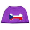Mirage Pet Products Bone Shaped Czech Republic Flag Screen Print Shirts Purple S (10)