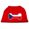 Mirage Pet Products Bone Shaped Czech Republic Flag Screen Print Shirts Red XXXL(20)