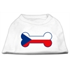 Mirage Pet Products Bone Shaped Czech Republic Flag Screen Print Shirts White S (10)