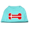 Mirage Pet Products Bone Shaped Denmark Flag Screen Print Shirts Aqua XXXL(20)