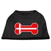 Mirage Pet Products Bone Shaped Denmark Flag Screen Print Shirts Black XXXL(20)