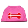 Mirage Pet Products Bone Shaped Denmark Flag Screen Print Shirts Bright Pink XXL (18)