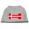 Mirage Pet Products Bone Shaped Denmark Flag Screen Print Shirts Grey XXXL(20)