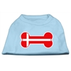 Mirage Pet Products Bone Shaped Denmark Flag Screen Print Shirts Baby Blue XXL (18)