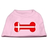 Mirage Pet Products Bone Shaped Denmark Flag Screen Print Shirts Light Pink XXXL(20)
