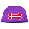 Mirage Pet Products Bone Shaped Denmark Flag Screen Print Shirts Purple M (12)