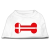 Mirage Pet Products Bone Shaped Denmark Flag Screen Print Shirts White XXL (18)