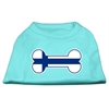 Mirage Pet Products Bone Shaped Finland Flag Screen Print Shirts Aqua XXXL(20)