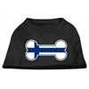 Mirage Pet Products Bone Shaped Finland Flag Screen Print Shirts Black XS (8)