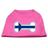 Mirage Pet Products Bone Shaped Finland Flag Screen Print Shirts Bright Pink XS (8)
