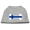 Mirage Pet Products Bone Shaped Finland Flag Screen Print Shirts Grey S (10)