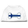 Mirage Pet Products Bone Shaped Finland Flag Screen Print Shirts White XXXL(20)