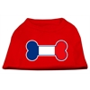 Mirage Pet Products Bone Shaped France Flag Screen Print Shirts Red XL (16)