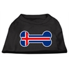 Mirage Pet Products Bone Shaped Iceland Flag Screen Print Shirts Black XS (8)