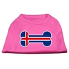 Mirage Pet Products Bone Shaped Iceland Flag Screen Print Shirts Bright Pink S (10)