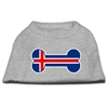 Mirage Pet Products Bone Shaped Iceland Flag Screen Print Shirts Grey XS (8)