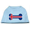 Mirage Pet Products Bone Shaped Iceland Flag Screen Print Shirts Baby Blue XXXL(20)