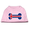 Mirage Pet Products Bone Shaped Iceland Flag Screen Print Shirts Light Pink XXXL(20)