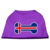 Mirage Pet Products Bone Shaped Iceland Flag Screen Print Shirts Purple S (10)