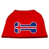 Mirage Pet Products Bone Shaped Iceland Flag Screen Print Shirts Red XS (8)