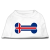 Mirage Pet Products Bone Shaped Iceland Flag Screen Print Shirts White XXXL(20)