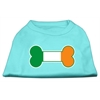 Mirage Pet Products Bone Flag Ireland Screen Print Shirt Aqua XS (8)