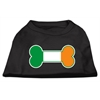 Mirage Pet Products Bone Flag Ireland Screen Print Shirt Black  XXL (18)