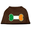 Mirage Pet Products Bone Flag Ireland Screen Print Shirt Brown XS (8)