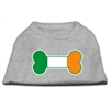 Mirage Pet Products Bone Flag Ireland Screen Print Shirt Grey XS (8)