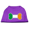 Mirage Pet Products Bone Flag Ireland Screen Print Shirt Purple XL (16)