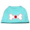 Mirage Pet Products Bone Shaped Japan Flag Screen Print Shirts Aqua XXXL(20)
