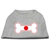 Mirage Pet Products Bone Shaped Japan Flag Screen Print Shirts Grey XL (16)