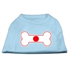 Mirage Pet Products Bone Shaped Japan Flag Screen Print Shirts Baby Blue XXXL(20)