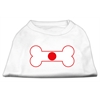 Mirage Pet Products Bone Shaped Japan Flag Screen Print Shirts White XXL (18)