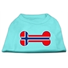 Mirage Pet Products Bone Shaped Norway Flag Screen Print Shirts Aqua XS (8)