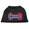 Mirage Pet Products Bone Shaped Norway Flag Screen Print Shirts Black XS (8)