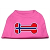 Mirage Pet Products Bone Shaped Norway Flag Screen Print Shirts Bright Pink XXXL(20)