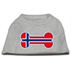 Mirage Pet Products Bone Shaped Norway Flag Screen Print Shirts Grey XS (8)