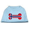 Mirage Pet Products Bone Shaped Norway Flag Screen Print Shirts Baby Blue XXXL(20)