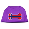 Mirage Pet Products Bone Shaped Norway Flag Screen Print Shirts Purple XS (8)