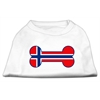 Mirage Pet Products Bone Shaped Norway Flag Screen Print Shirts White XS (8)