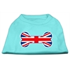 Mirage Pet Products Bone Shaped United Kingdom (Union Jack) Flag Screen Print Shirts Aqua XXXL(20)