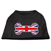 Mirage Pet Products Bone Shaped United Kingdom (Union Jack) Flag Screen Print Shirts Black XXXL(20)