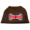 Mirage Pet Products Bone Shaped United Kingdom (Union Jack) Flag Screen Print Shirts Brown XS (8)