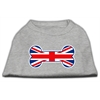 Mirage Pet Products Bone Shaped United Kingdom (Union Jack) Flag Screen Print Shirts Grey XS (8)